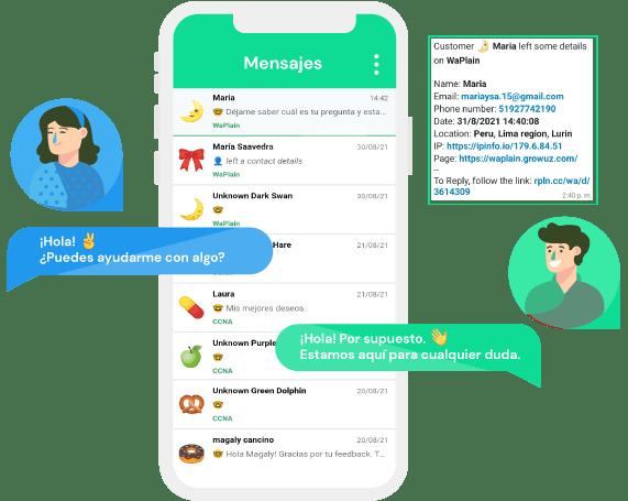 Chat en vivo desde WhatsApp